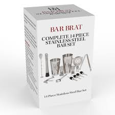 Home Bar Set by 14 Piece Stainless Steel Bar Set By Bar Brat Perfect Drink Martini S