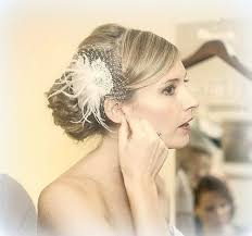 hair fascinator wedding fascinator ivory feather hair clip ivory bridal
