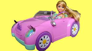 barbie corvette vintage pink sparkle girls car surprise unboxing u0026 playtime funville