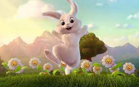 hopping bunny the easter bunny is hop hop hopping along message media features