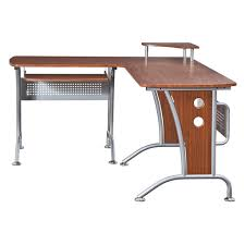 l shaped desk glass furniture techni mobili graphite frosted glass l shaped pertaining