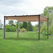 Metal Pergolas With Canopy by Replacement Pergola Canopy And Cover For Home Depot Pergolas