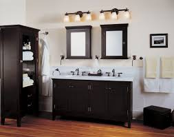 bathroom cabinets bathroom lighting fixtures over mirror brown