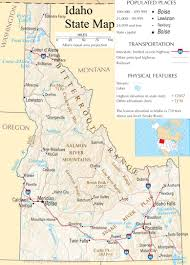 Detailed Map Of Usa by Idaho State Map A Large Detailed Map Of Idaho State Usa