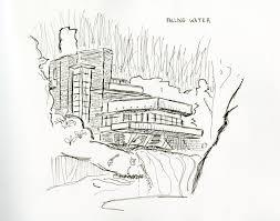 falling water house sketch pr energy