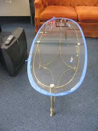 vintage glass coffee table score vintage brass and glass coffee table