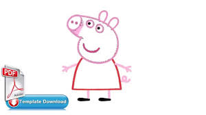 peppa pig painting template pdf
