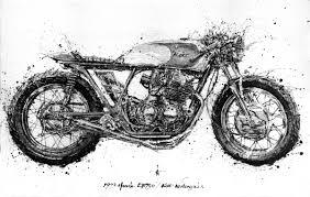 black honda motorcycle black and copper 550 u2014 kott motorcycles