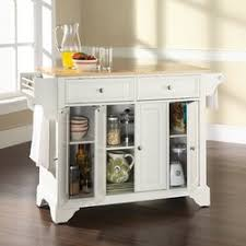 wood top kitchen island darby home co abbate kitchen island with wood top reviews wayfair