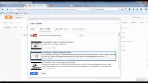 cara membuat blog tulisan cara memasukkan vidio di dalam blog youtube