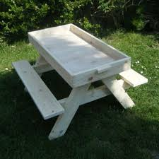 Plans For Picnic Table Bench Combo by How To Build A Kids Picnic Table And Sandbox Combo