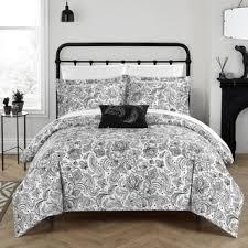 Black Duvet Covers Everrouge White Lotus 7 Piece Queen Cotton Duvet Cover Set Free