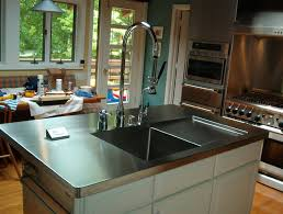 stainless steel countertop with sink diy stainless steel countertops eva furniture