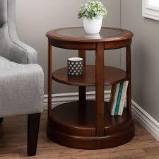 Charging Station End Table by Furniture Design Toscano French Wine Barrel Side Table Metalware