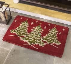 Outdoor Coir Doormats Christmas Tree Doormat Pottery Barn
