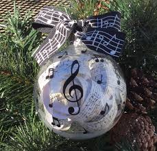 personalized music lover ornament hand painted glass christmas