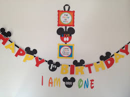 how to make a mickey mouse clubhouse party door sign with