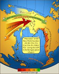 Siberia On World Map by Bering Land Bridge Strip Of Land Connecting Siberia To Alaska
