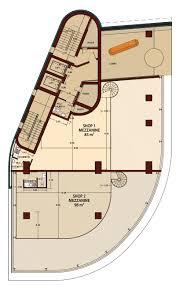paris business center shop s mezzanine floor plan