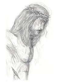pictures sketches of jesus face drawing art gallery