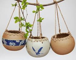 Hanging Ceramic Planter by Air Plant Vase Etsy