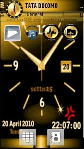 theme clock swf gold clock theme for nokia 5230 5232 5233 nuron free