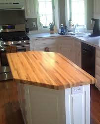 red oak wood harvest gold raised door butcher block kitchen island