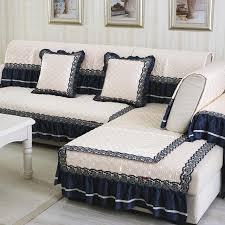 tissu housse canapé européenne style crème blanc tissu housse de canapé dentelle