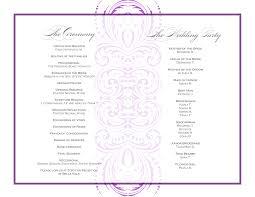 Wedding Ceremony Program Sample Event Program Template