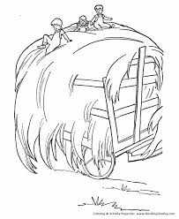 farm life coloring pages printable hay wagon coloring page and