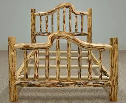 Wood Log Bed Frame 53 Best Log Beds Images On Pinterest Logs Rustic Furniture And