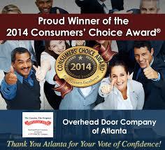 Overhead Door Company Atlanta 2014 Consumer S Award Overhead Door Of Ne