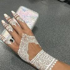 are you ready for the weekend white henna the perfect accessory