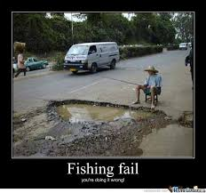 Funny Fishing Memes - fishing fail by michael chane meme center