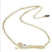 Gold Name Plated Necklace Rocawear Original Rocawear Gold Name Plate Necklace Nwt From
