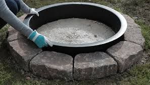 Firepit Insert How To Build A Pit Ring Inside Steel Outdoor Pit Ring