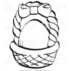 blank easter baskets empty easter basket coloring page coloring home