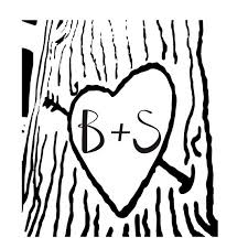 initials carved in tree items similar to heart carved on a tree with initials carved in