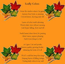 leafly colors holiday poems