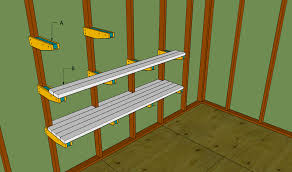 Easy Wood Shelf Plans by Custom Diy Wood Wall Mounted Garage Storage Shelves Plans Ideas