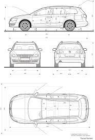 volkswagen passat variant 2005 blueprint database pinterest