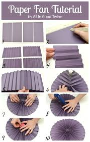 how to make paper fans paper fan tutorial via all in twine diy project list