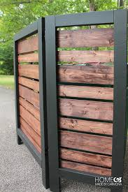 Free Wooden Garbage Bin Plans by How To Build An Easy Privacy Screen Home Pinterest Screens