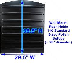extra large 7 tier black wall mount nail polish rack display