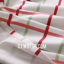 chi temporary plaid curtains with metal hook style for living room