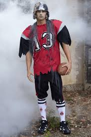 zombie football player costume for men chasing fireflies