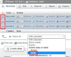Delete From Table Sql How To Create Edit And Delete Table Using Phpmyadmin Webdevzoom