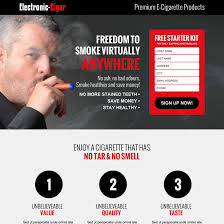 responsive e cigarette landing page design templates for your