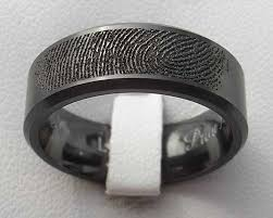 black wedding ring personalised fingerprint black wedding ring love2have in the uk