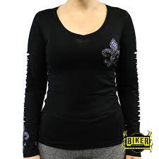 womens motorcycle apparel forgiven line fleur de lis long sleeve biker clothing women u0027s